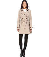 Via Spiga - Double Breasted Trench with Faux Leather Detaiil