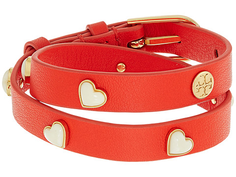 Tory Burch Amore Heart Double Wrap Bracelet