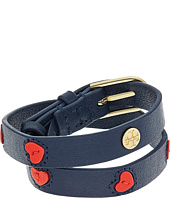 Tory Burch - Leather Applique Double Wrap Bracelet