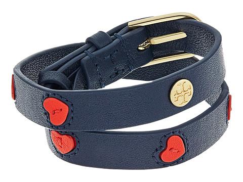 Tory Burch Leather Applique Double Wrap Bracelet