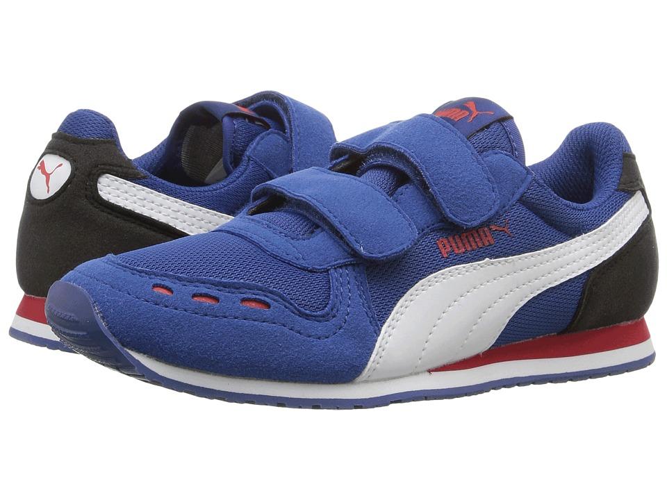 Puma Kids Cabana Racer Mesh V PS (Little Kid/Big Kid) (True Blue/Puma White) Boys Shoes