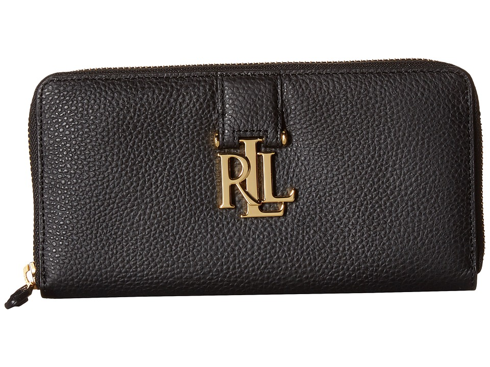 LAUREN Ralph Lauren - Carrington Zip Wallet (Black) Wallet Handbags