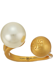 Tory Burch - Hammered Metal and Pearl Floating Ring