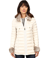 Via Spiga - Short Puffer with Detachable Chic Faux Fur Collar