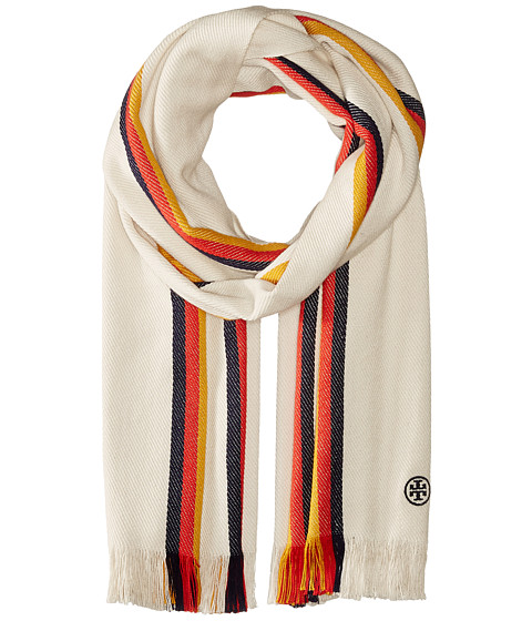 Tory Burch Stripe Oblong - Ivory Multi