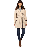 Via Spiga - Asymmetrical Softshell with Removable Faux Fur Collar