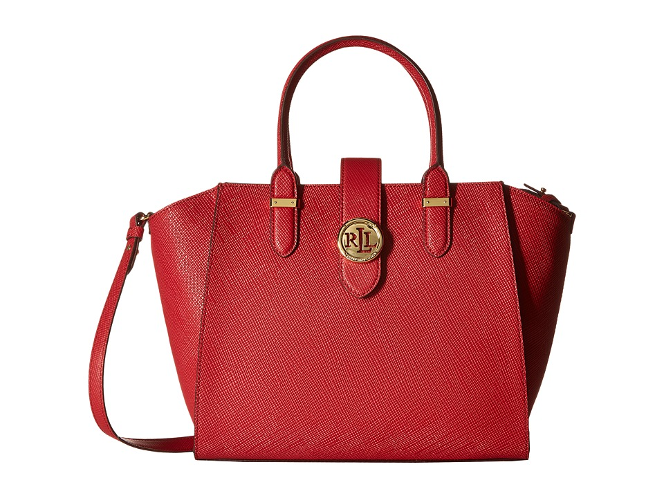 LAUREN Ralph Lauren - Charleston Shopper (Crimson) Handbags