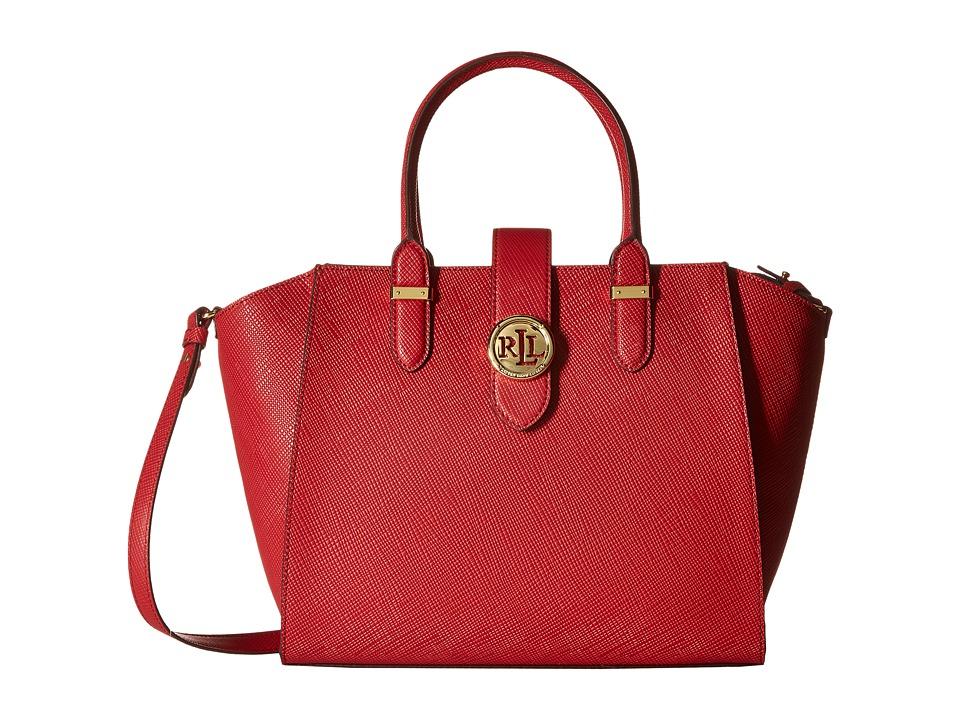 LAUREN Ralph Lauren - Charleston Shopper (Crimson) Handbags
