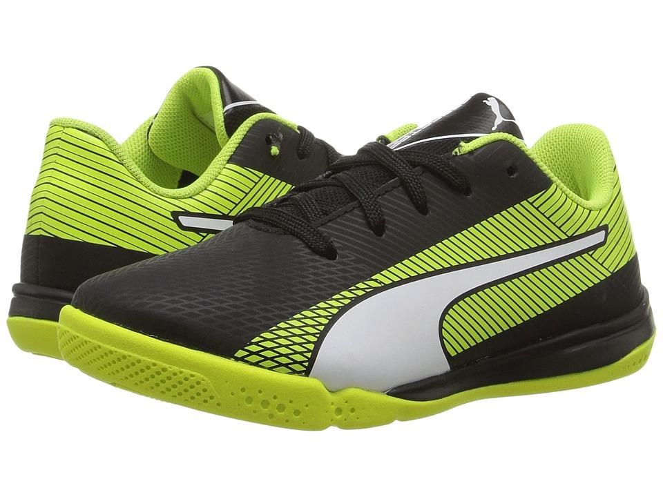 Puma Kids evoSPEED Star S Jr (Little Kid/Big Kid) (Puma Black/Puma White/Safety Yellow) Boys Shoes