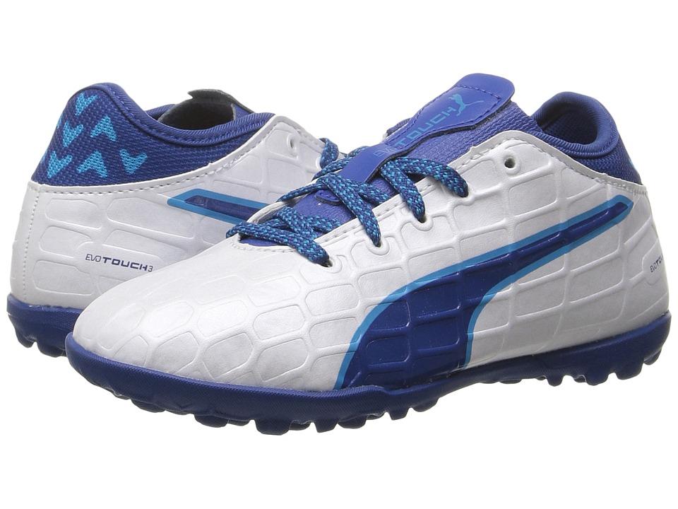 Puma Kids evoTOUCH 3 TT Jr (Little Kid/Big Kid) (Puma White/True Blue/Blue Danube) Boys Shoes