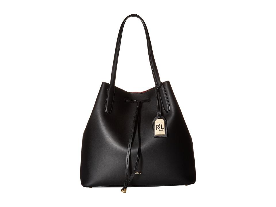 LAUREN Ralph Lauren - Dryden Diana Tote (Black/Crimson) Tote Handbags
