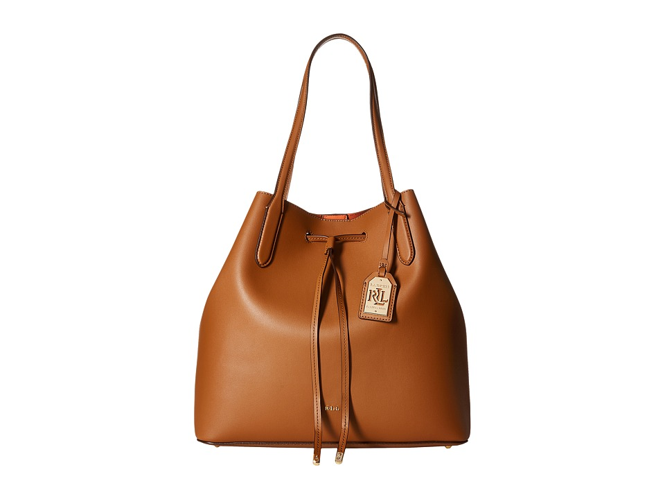 LAUREN Ralph Lauren - Dryden Diana Tote (Brown/Orange) Tote Handbags