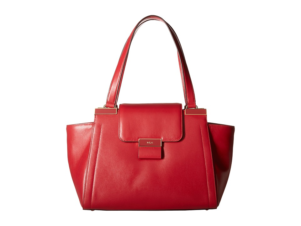 LAUREN Ralph Lauren - Lynwood Carine Shopper (Crimson) Handbags