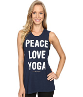 Spiritual Gangster - Peace Love & Yoga Rocker Tank Top
