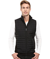 Perry Ellis - Quilted Mix Media Knit Vest