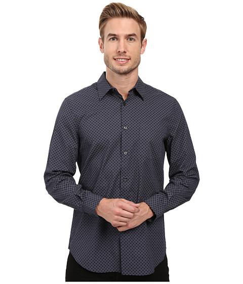 Perry Ellis Regualr Fit Exclusive Mini Square Print Shirt
