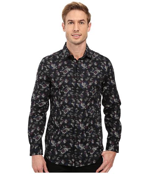 Perry Ellis Slim Fit Multicolor Camo Print Shirt