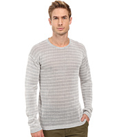 John Varvatos Star U.S.A. - Striped Long Sleeve Crew Neck Sweater Y1313S2B