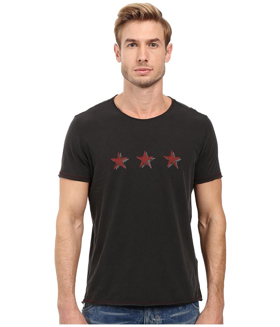 John Varvatos Star U.S.A. - 3-Star Graphic Tee K2719S2B (Black) Men