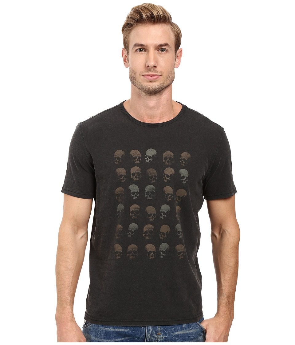 John Varvatos Star U.S.A. - Rows of Skulls Graphic Tee K2713S2B (Black) Men