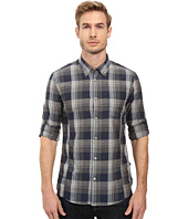 John Varvatos Star U.S.A. - Slim Fit Button Down Collar Sport Shirt with Roll Up Sleeve and Single Chest Pocket W387S2B