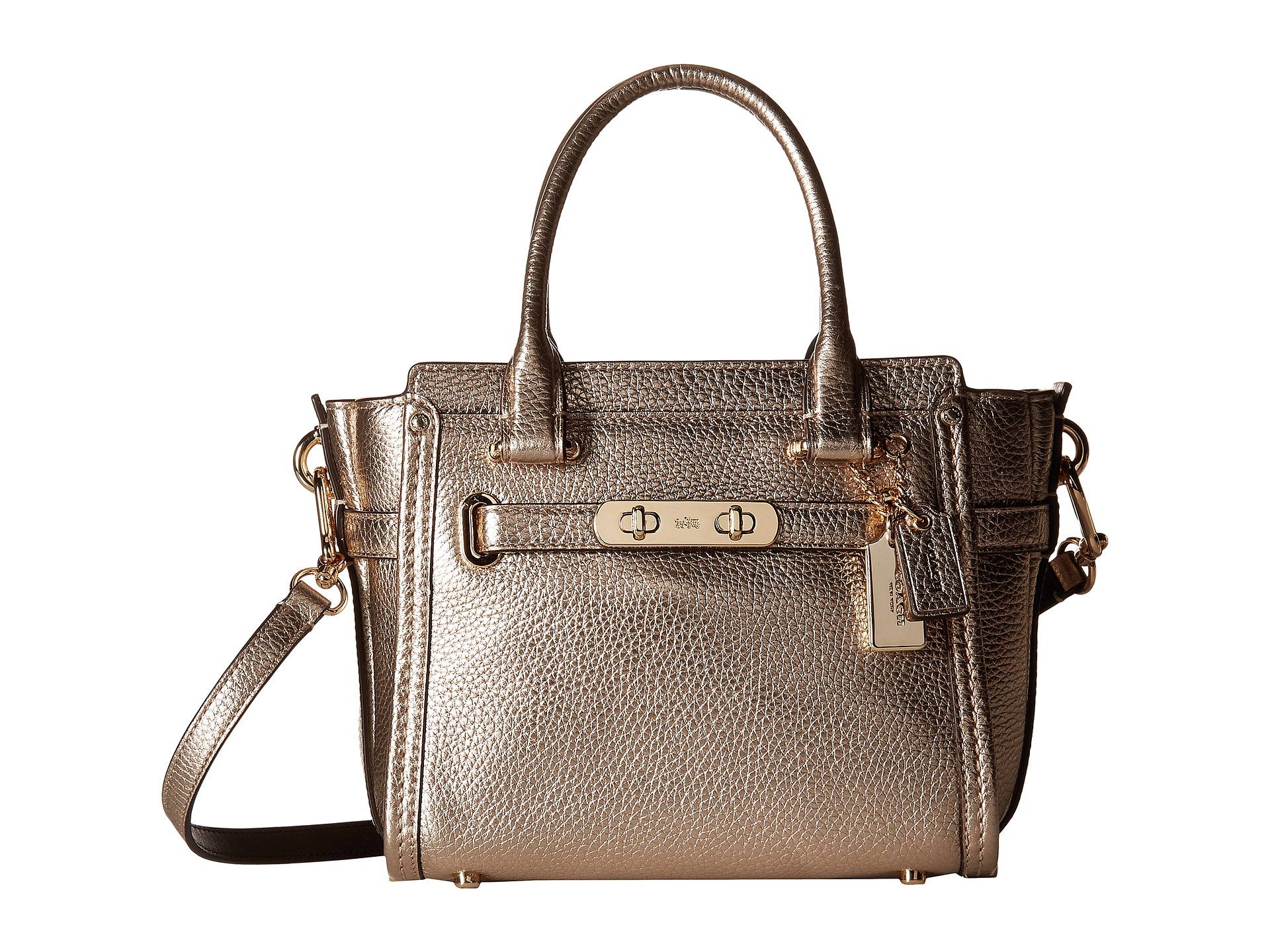 COACH Pebbled Leather Coach Swagger 21 at 6pm.com