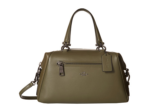 COACH Mixed Leather Primrose Satchel