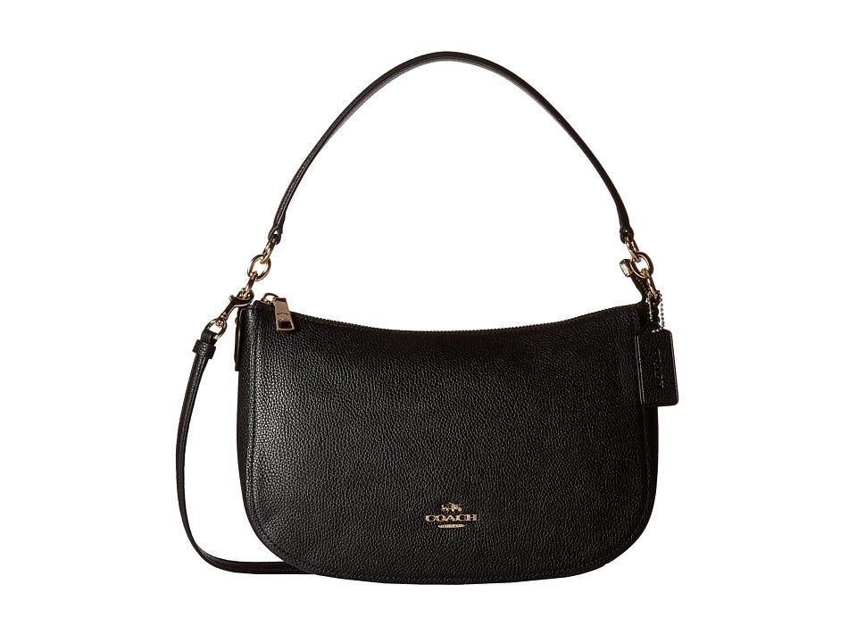 COACH - Pebble Chelsea Crossbody (LI/Black) Cross Body Handbags