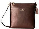 Pebbled Leather Courier Crossbody