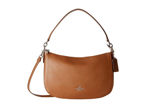 COACH Pebble Chelsea Crossbody - SV/Saddle