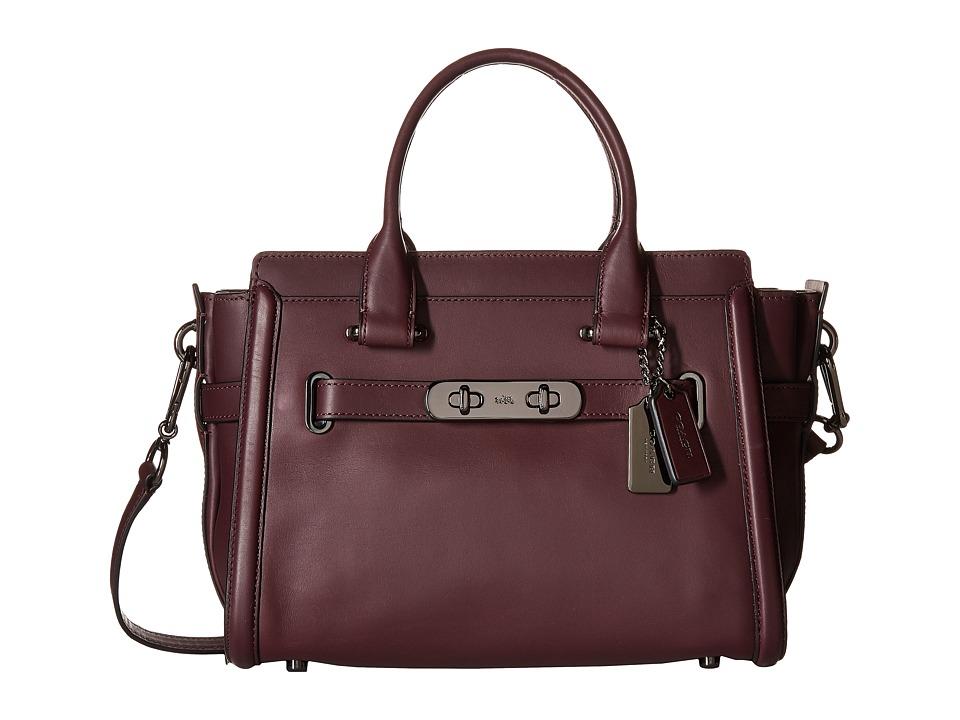 COACH - Glovetan Coach Swagger 27 (DK/Oxblood) Handbags