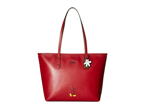 COACH Mickey City Tote - DK/Red
