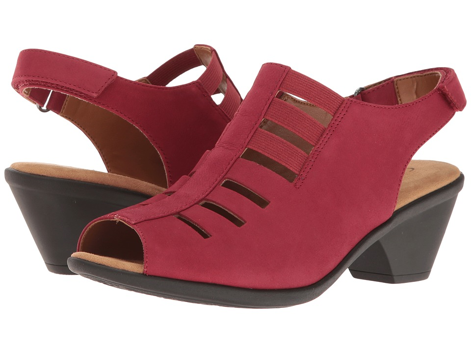 Comfortiva Faye (Ruby Red Otago Softy Nubuck) 1-2 inch heel Shoes