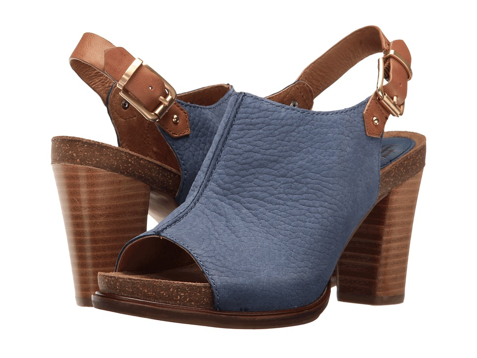Sofft Cidra (Denim/Cognac Buckley/Goat Vachetta) High Heels