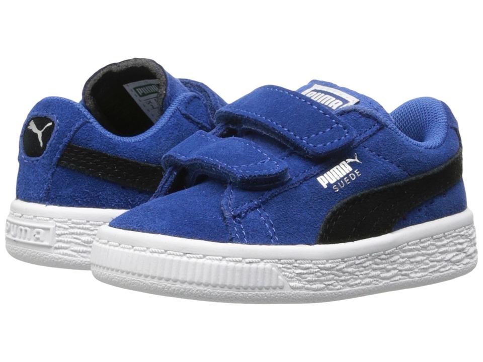 Puma Kids Suede 2 Straps Inf (Toddler) (True Blue/Puma Black) Boys Shoes