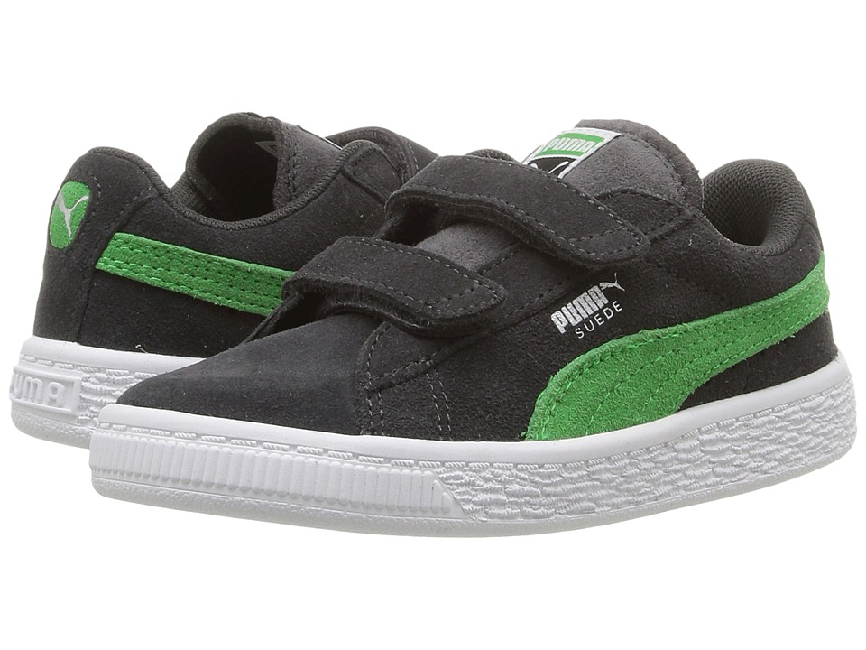 Puma Kids Suede 2 Straps Inf (Toddler) (Asphalt/Andean Toucan) Boys Shoes