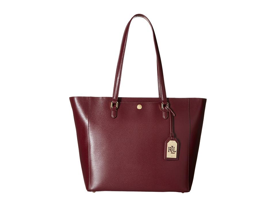 LAUREN Ralph Lauren - Newbury Halee Tote (Claret) Tote Handbags
