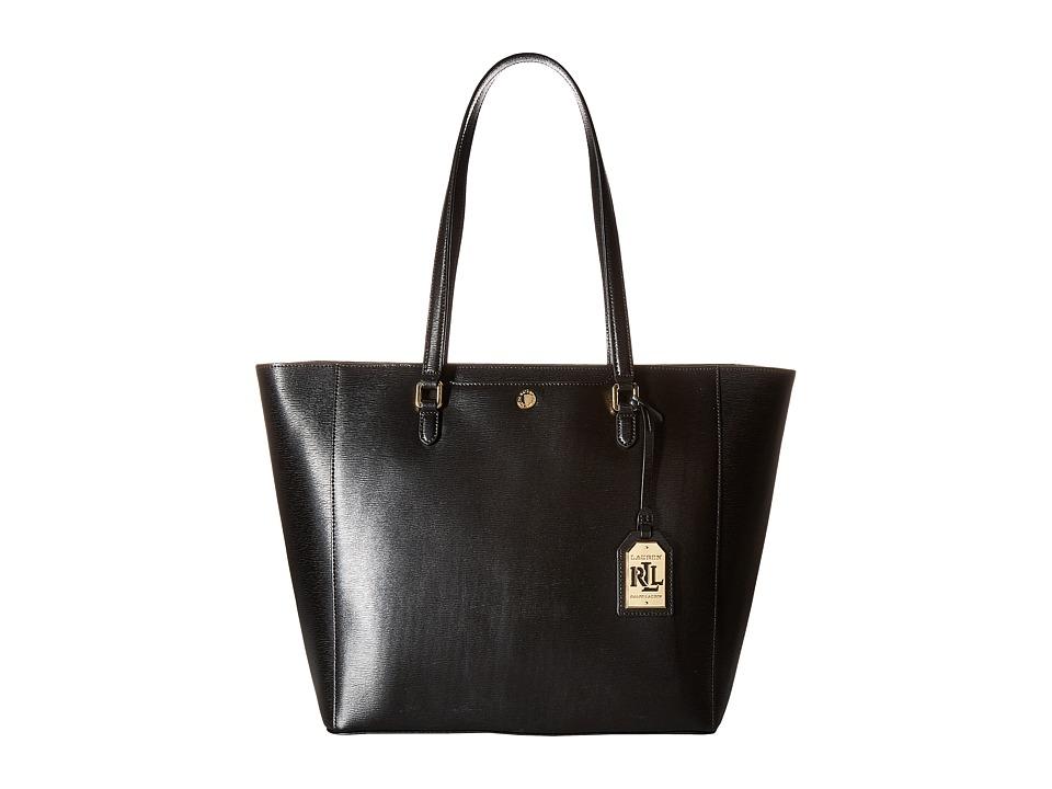 LAUREN Ralph Lauren - Newbury Halee Tote (Black) Tote Handbags