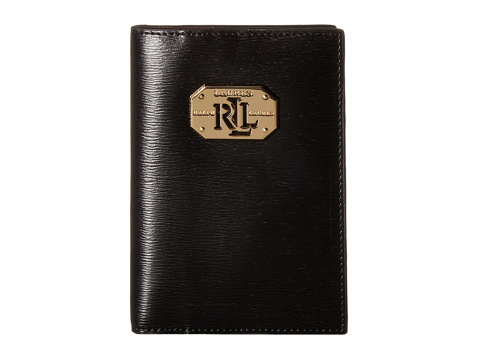 LAUREN Ralph Lauren - Newbury LRL Passport Case (Black) Wallet
