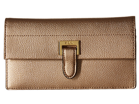 LAUREN Ralph Lauren Carlisle Slim Wallet - Gold Leaf