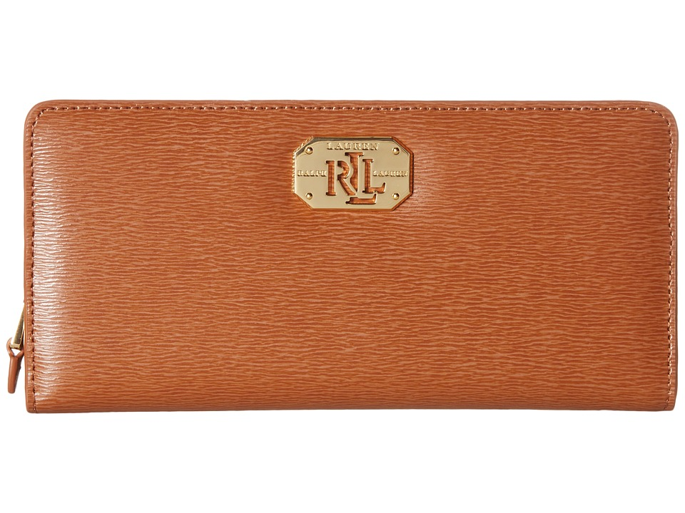 LAUREN Ralph Lauren - Newbury LRL Snap Continental Wallet (Lauren Tan) Wallet Handbags