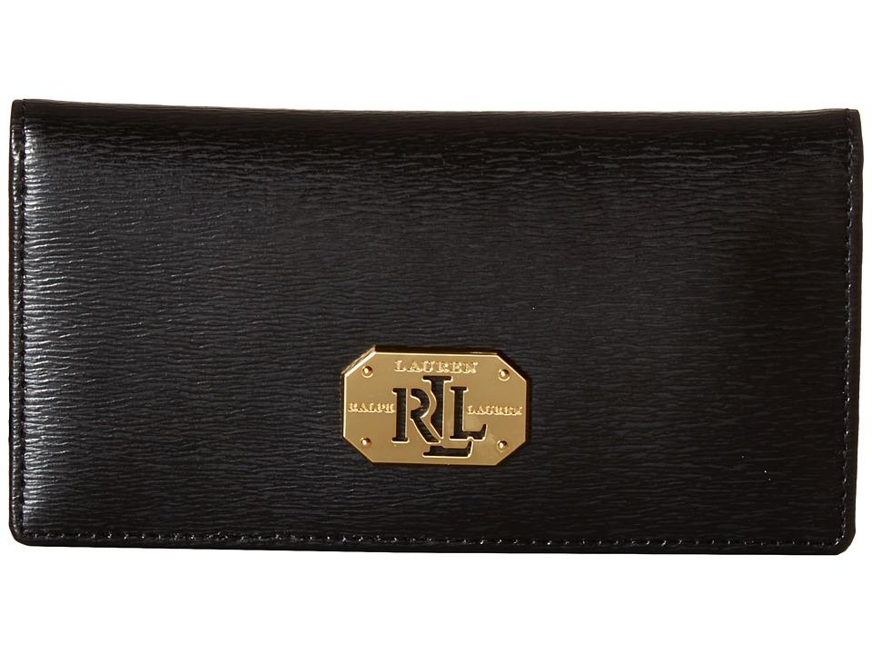 LAUREN Ralph Lauren - Newbury LRL Slim Wallet (Black) Wallet Handbags