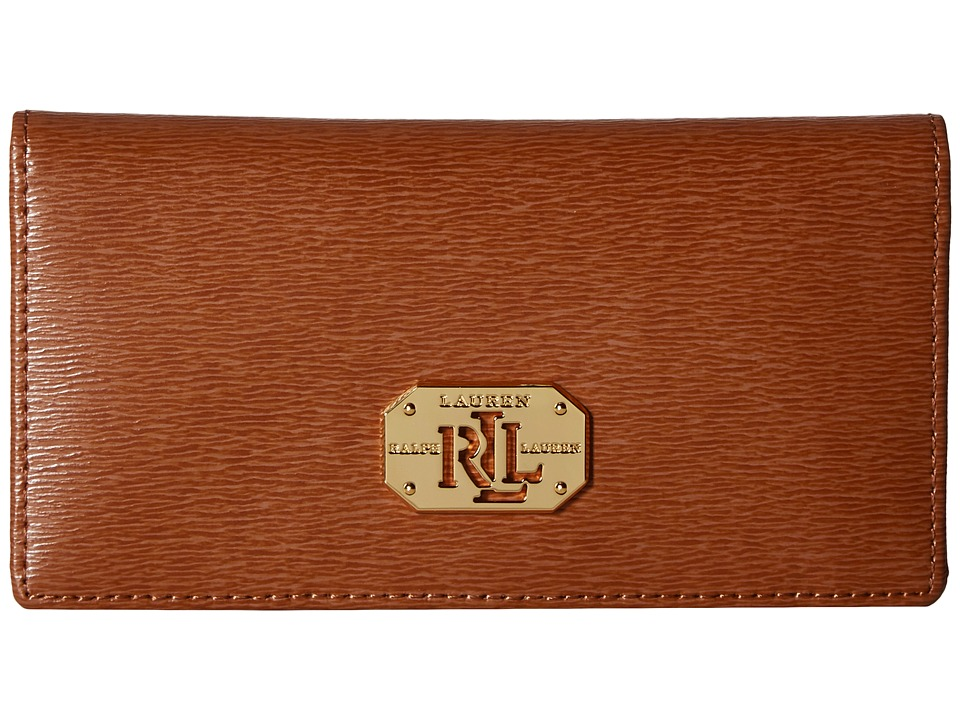 LAUREN Ralph Lauren - Newbury LRL Slim Wallet (Lauren Tan) Wallet Handbags