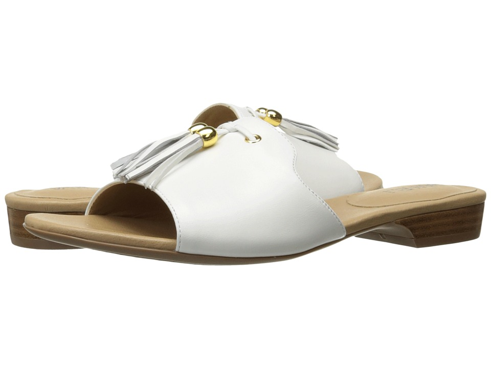 Vaneli Blizzi (White Nappa/Gold Trim) Women