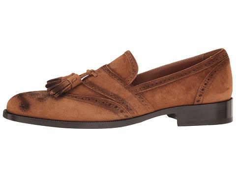 ETRO Tassel Suede Loafer in Brown