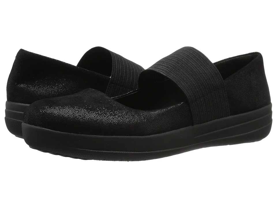 FitFlop F-Sporty Mary Jane (Black Glimmer) Women