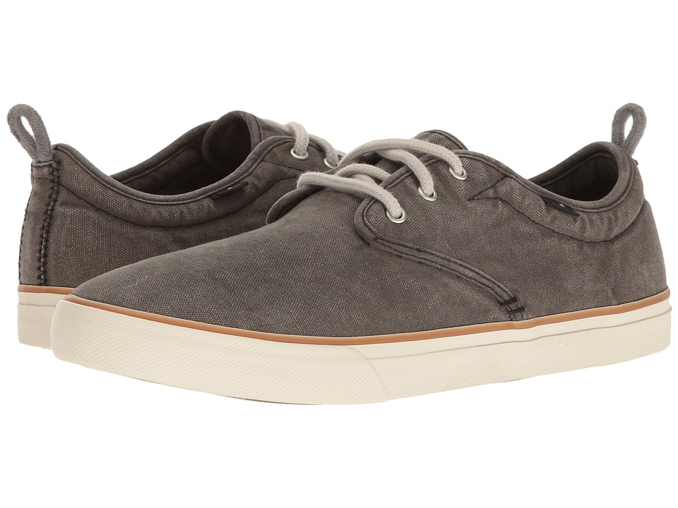 Sanuk - Guide Plus Washed (Washed Black) Mens Lace up casual Shoes