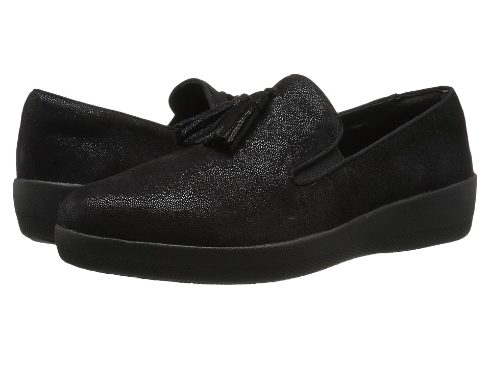 FitFlop Tassel Superskate (Black Glimmer) Women