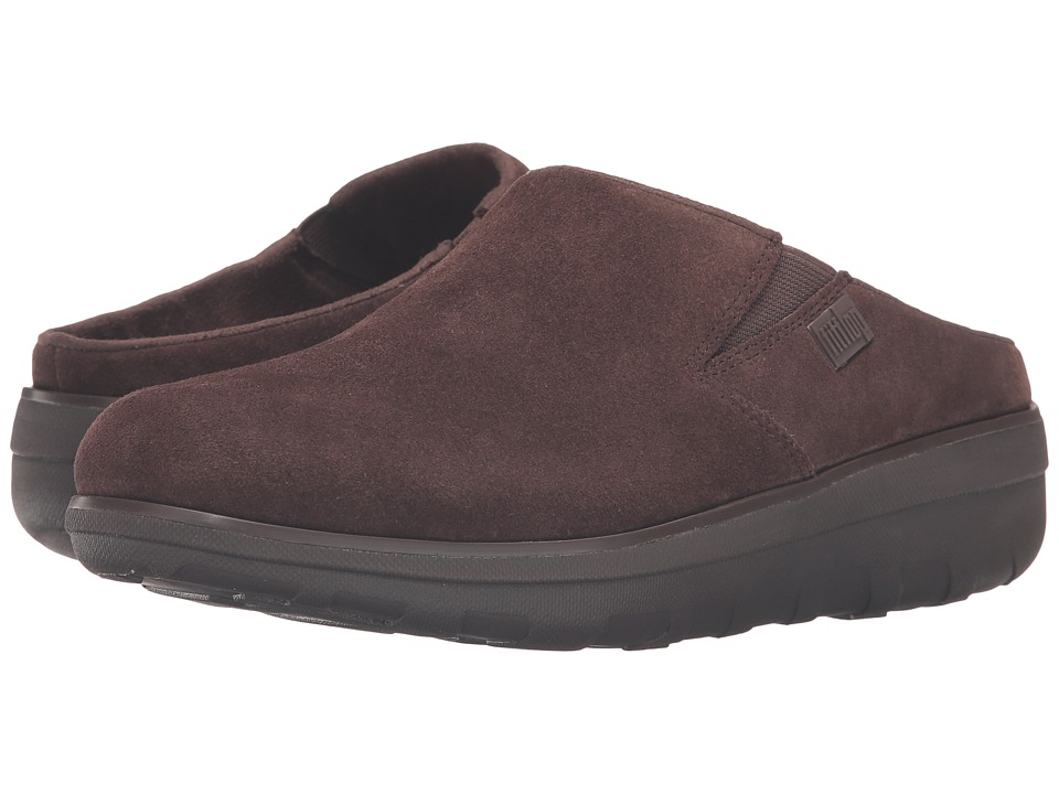 FitFlop Loaff Suede Clogs (Chocolate) Women