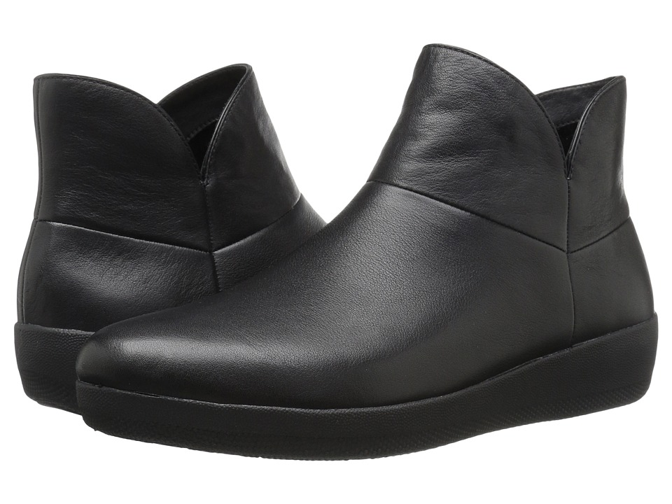 FitFlop - Supermod Leather Ankle Boot (Black) Women